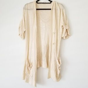 Free People Cardigan hooded & soft w pockets